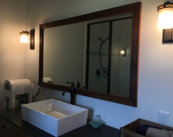 Mirror Reclaimed Barn Wood Frame, Mirror Frame, Mirror Reclaimed Wood,  Farmhouse Mirror,