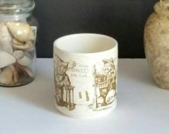 Vintage German Waechteasbach Tobacco Humidor 1940s Home Decor/Gifts/Mid Century/Primitive/Man Cave/Gift/Vintage Decor/Pipe Smoke/Humidor