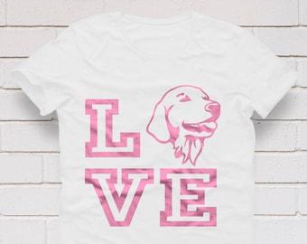 Golden Retriever svg, Dog silhouette, Dog svg, Golden Retriever silhouette, Retriever svg, Retriever shirt, SVG, DXF, eps, png, pdf, Love,