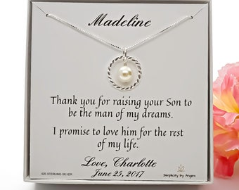 Mother of the Groom Gift, Mother of the Bride Gift,  Mother of the Groom Necklace, Mother in Law Gift,  Wedding Gift,  925 Sterling Silver