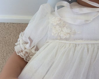 Christening Gown, bonnet , petticoat and shoes
