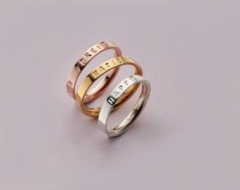 Dainty Coordinates Ring Stackable Band  Latitude Longitude Ring Personalized Custom Location Jewelry Custom Location Ring