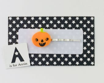 Jack-O Pumpkin Hair Pin/Bookmark