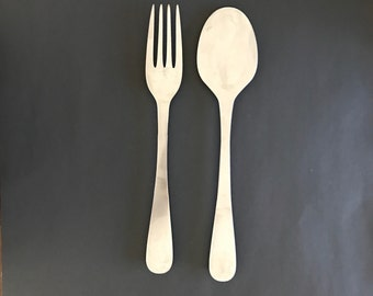 Spoon and Fork Fork and Spoon Wall Art Fork and Spoon Wall