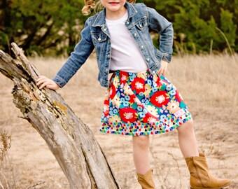 KoKo Lee Flower skirt   (18 mos.,  2T, 3T, 4T, 5, 6, 7, 8, 10)