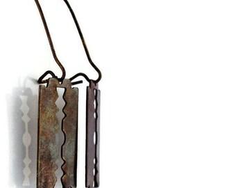 Razor Blade Earrings / Brass Earrings / Razor Earrings