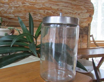 Grafco Clear Glass Apothecary Jar