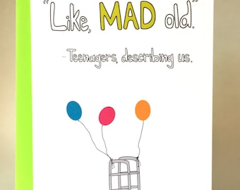 Funny Birthday Card Old Greeting Friend Slang C 046