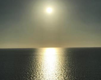 Le Ciel #1 Sun in the Sky Above the Ocean Photograph