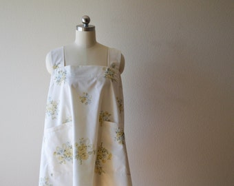 Recycled Vintage Floral Crossback Apron