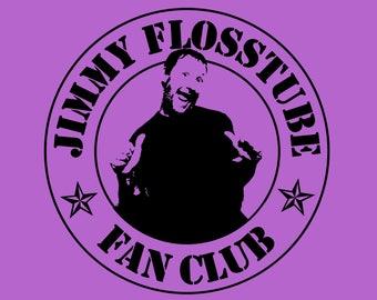 Jimmy Flosstube Fan Club Cross Stitch T-Shirt Limited Edition