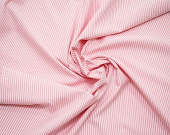 Yarn-dyed cotton stripes fabric - pink - 50 cm