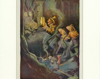1908 John Neill The Den of the Dragonettes Antique Oz Book Illustration