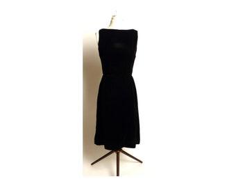 Vintage Circa Early 1960s Jay Herbert California Little Black Dress