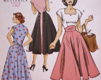 Butterick B6212 Pullover Back Wrap Dress Sewing Pattern, Butterick Reissue 50s Vintage Pattern, UNCUT  Factory Folded