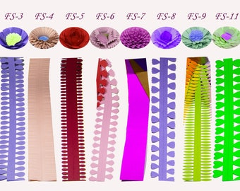 Paper Quilling DIY handmade Crafts Flower 5 strips Length 50cm paper art origami collage party paper for Kids/Adults