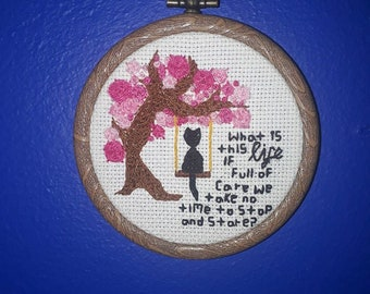 W. H. Davies Inspired Embroidery
