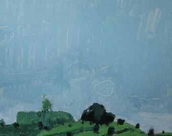 May 24, 7:45 p.m., Original Landscape Painting on Paper, Stooshinoff