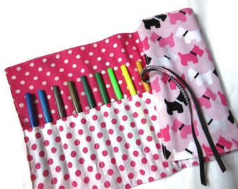 school for pencils pens rolling dogs, black white pink