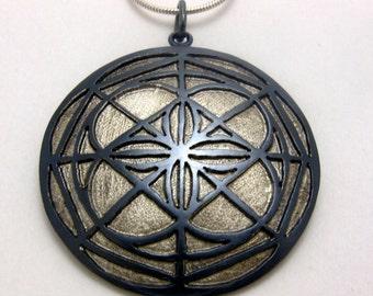 Universal Pattern Pendant Kenpo Karate inspired jewelry by Cristina Hurley
