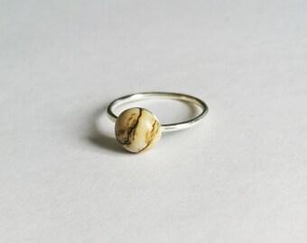 Picture Jasper Ring, Gemstone Ring, Crystal Ring, Silver Ring, Picture Jasper Gemstone Ring, Gemstone Jewellery Gift, Jasper