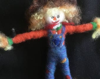 Needle Felted Scarecrow