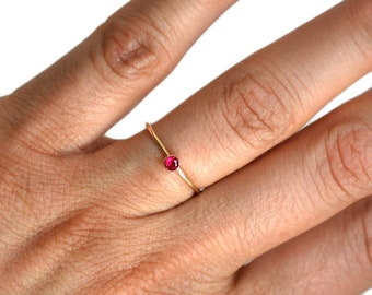 ruby ring 14 gold, 14k gold ruby ring, 14k solid gold ruby ring, 14k gold ruby ring, stacking ring, dainty ring, stackable ring, gold ruby