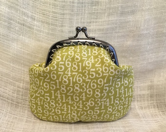 Green Numbers Coin Purse