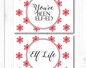 Elf Notes, Christmas Elf Notes, You've Been Elfed, Elf Life, Printable Elf Notes, Christmas Games, Printable Christmas Activities