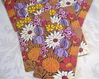 6 Brown Floral Vintage Playing Cards