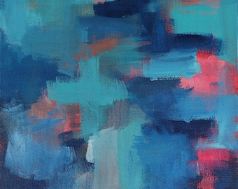 Blue Noise With A Tint Of Hope 2 // Abstract Artist Charlie Albright // From Moments by Charlie BLOG & Online Shop