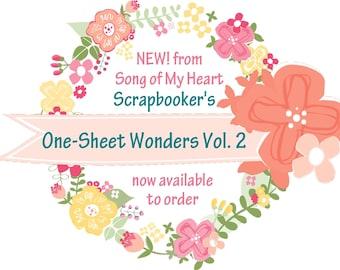 Vol. 2 Scrapbooker's One-Sheet Wonders: Instant Digital Download