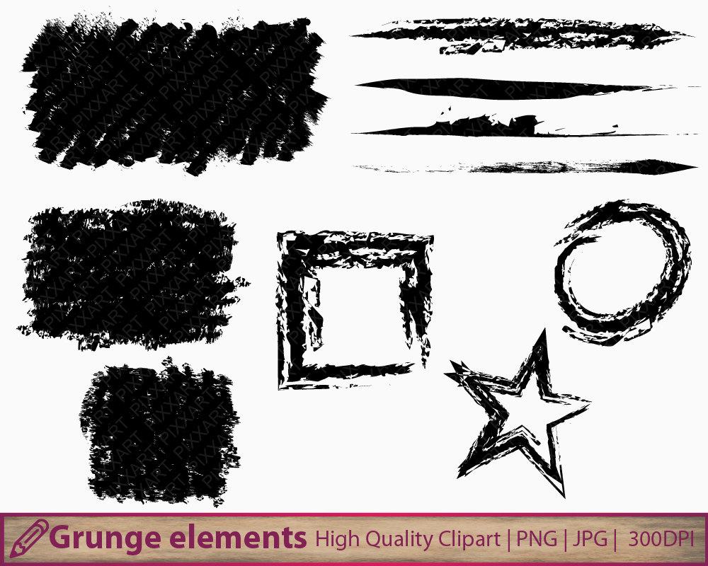 grunge clipart distressed design frames clip art brush rh etsy com grunge border clipart grunge volleyball clipart