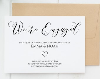 Kate engagement party invitation template were engaged engagement party invitation editable engagement party invitation printable were engaged invitation template stopboris Image collections