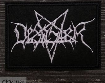 Patch Desaster Black Thrash Metal Band.