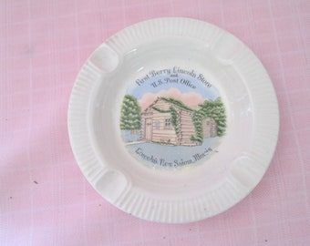 Enco First Berry Lincoln Store Post Office vintage porcelain ashtray New Salem, IL