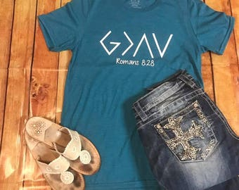 God is Greater than the highs and lows tee