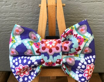 NEW! Paisley Starburst Dog Bow Tie