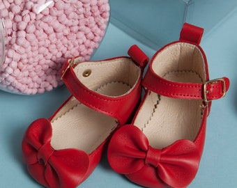 Charlotte Occasion Soft Sole Shoes With Bows For Babies