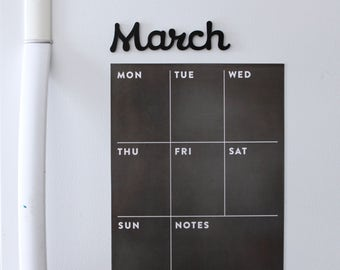 Fridge calendar - weekly magnetic calendar