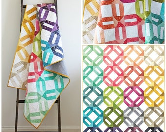 Ombre Weave Quilt Pattern by V & Co.