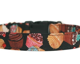 Cupcakes Dog Collar / Hearts Dog Collar / Custom Dog Collar/ Martingale Dog Collar