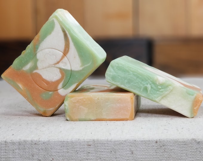 """Elder Flower & Quince Soap """"Cordelia"""" Soap Goddess Loves Shakespeare, handmade vegetarian, lightly scented, yogurt soap, free shipping"""