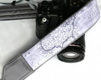 World Map Camera Strap. Photo camera Accessories. SLR, DSLR Camera Strap. Gift For Photographer. Personalized camera strap