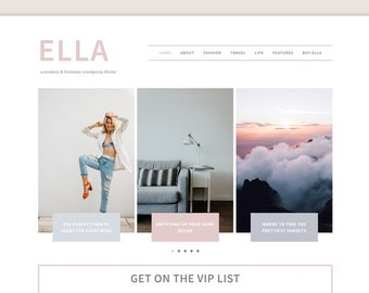 Ella WordPress Theme • Genesis Child Theme • Responsive WordPress Theme • Feminine WordPress Theme • WordPress Template • Blog Template