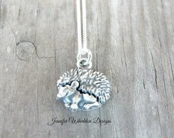 Hedgehog Necklace - Hedgehog Jewelry - Hedgehog Gift - Animal Jewelry - Animal Rescue - Pet Memorial
