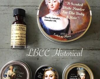 18th Century Boxed Starter Set Gift- Historical Makeup Marie Antoinette Beauty Box, Natural Makeup Gift Set