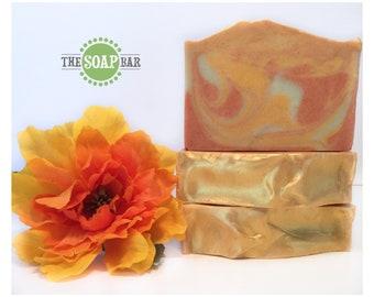 Rainbow Sherbet Handmade Soap | Classic Collection | Citrus Soap | Vegan Soap | Essential Oils | Natural Clays | Bar Soap