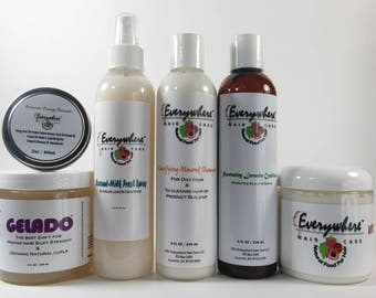 Start Me Off Bundle/shampoo/conditioner /FREE SHIPPING/creams/pomade/stylers/gels/organic/100%natural/set/by Everywhere Hair Care