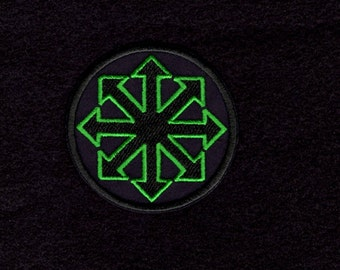 Symbol of Chaos green patch Iron to Sew on Badge